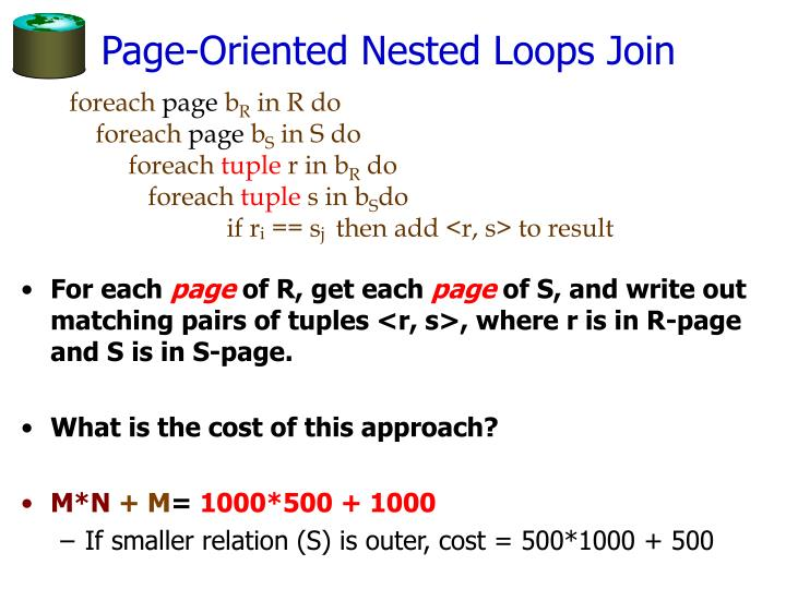 Page-Oriented Nested Loops Join