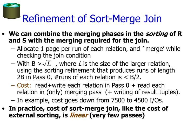 Refinement of Sort-Merge Join