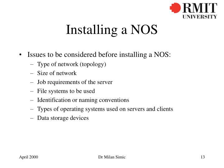 Installing a NOS