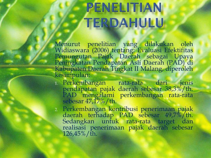 PENELITIAN TERDAHULU