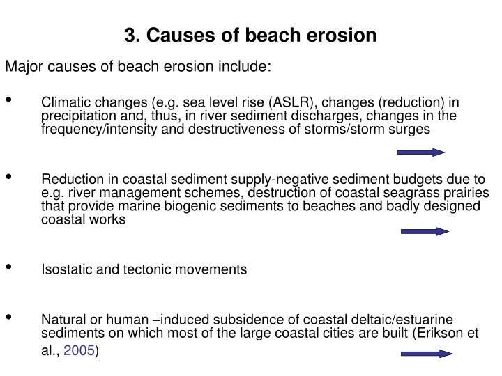 3. Causes of beach erosion