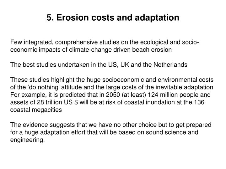 5. Erosion costs and adaptation