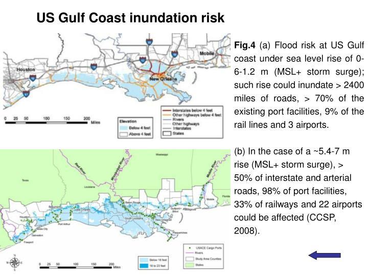 US Gulf Coast inundation risk