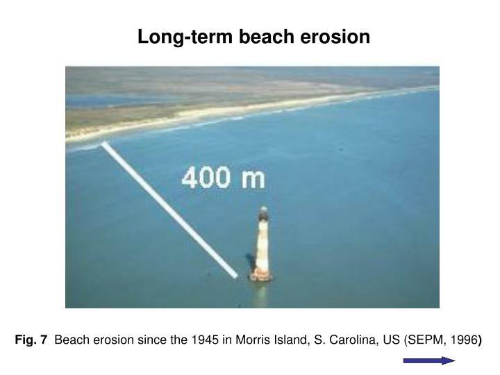 Long-term beach erosion