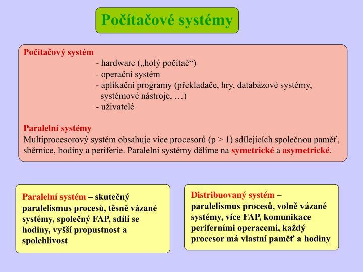 Počítačové systémy