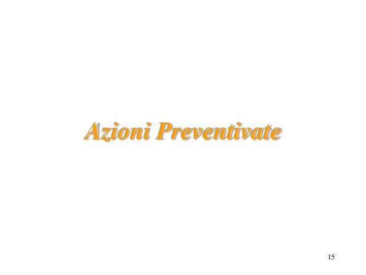 Azioni Preventivate