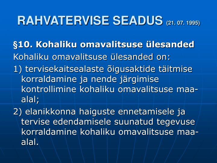 RAHVATERVISE SEADUS