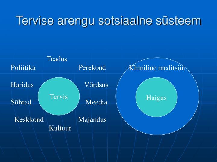 Tervise arengu sotsiaalne süsteem