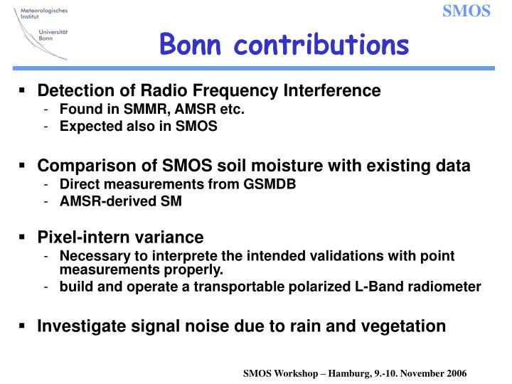 Bonn contributions