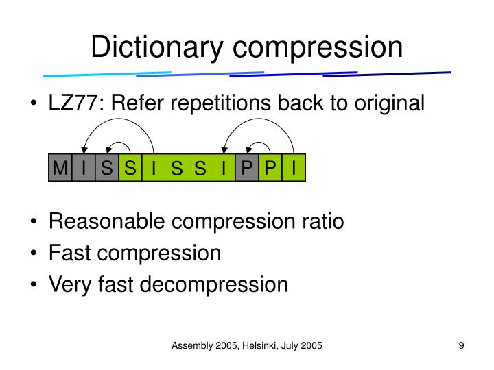 Dictionary compression