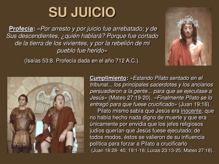 SU JUICIO