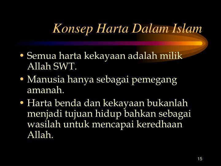 Konsep Harta Dalam Islam