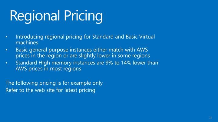 Regional Pricing