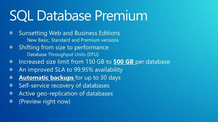 SQL Database Premium