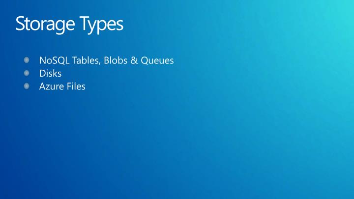 Storage Types
