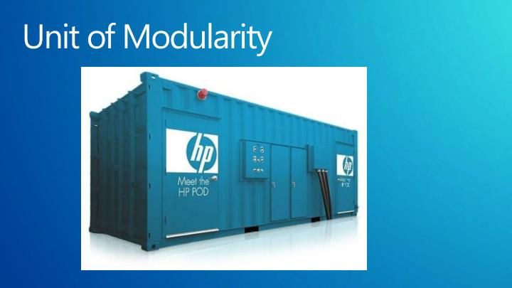 Unit of Modularity