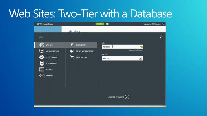 Web Sites: Two-Tier with a Database