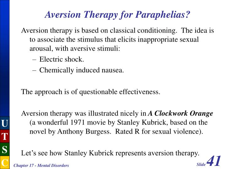 Aversion Therapy for Paraphelias?