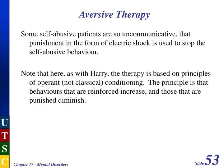 Aversive Therapy