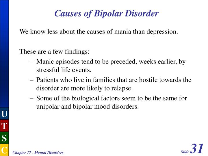 Causes of Bipolar Disorder