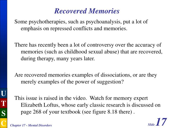 Recovered Memories