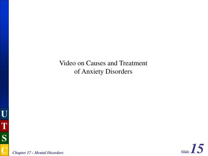 Video on Causes and Treatment