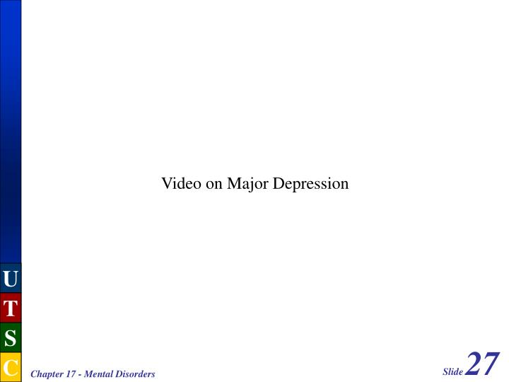 Video on Major Depression
