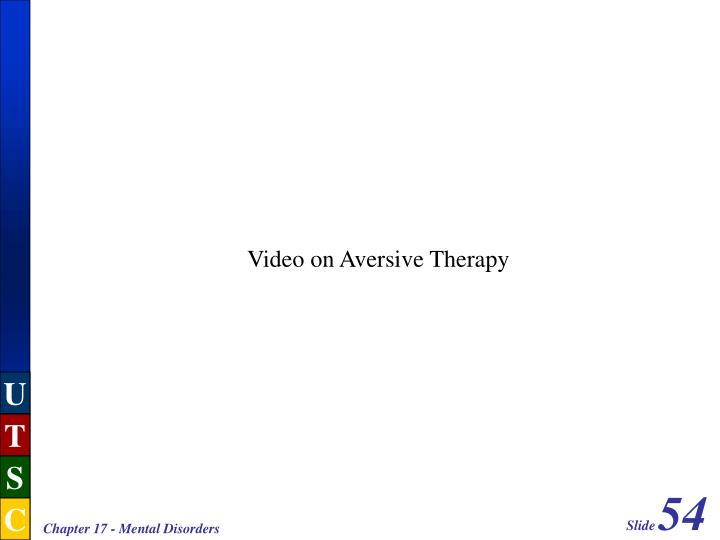Video on Aversive Therapy