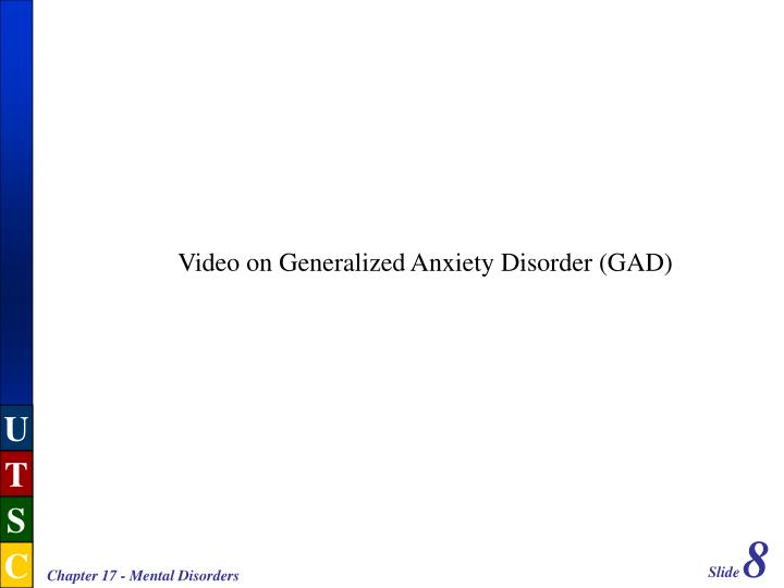 Video on Generalized Anxiety Disorder (GAD)