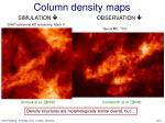 column density maps
