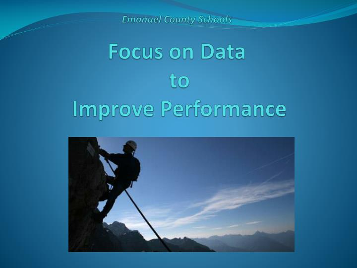 Emanuel county schools focus on data to improve performance