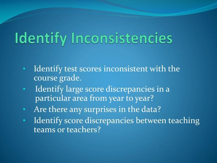 Identify Inconsistencies