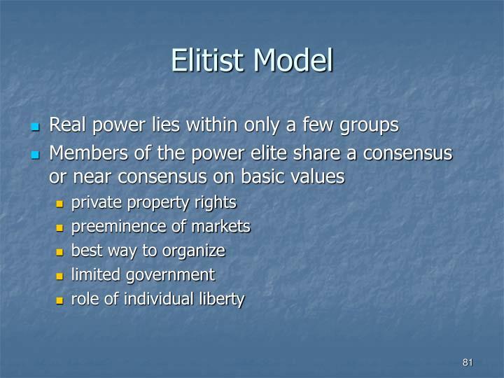 Elitist Model