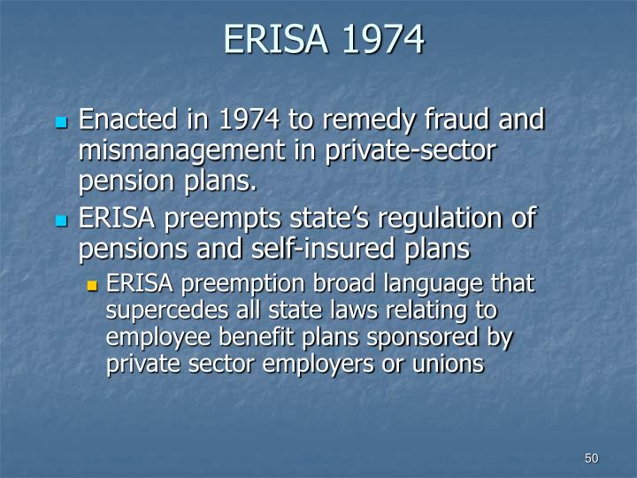 ERISA 1974