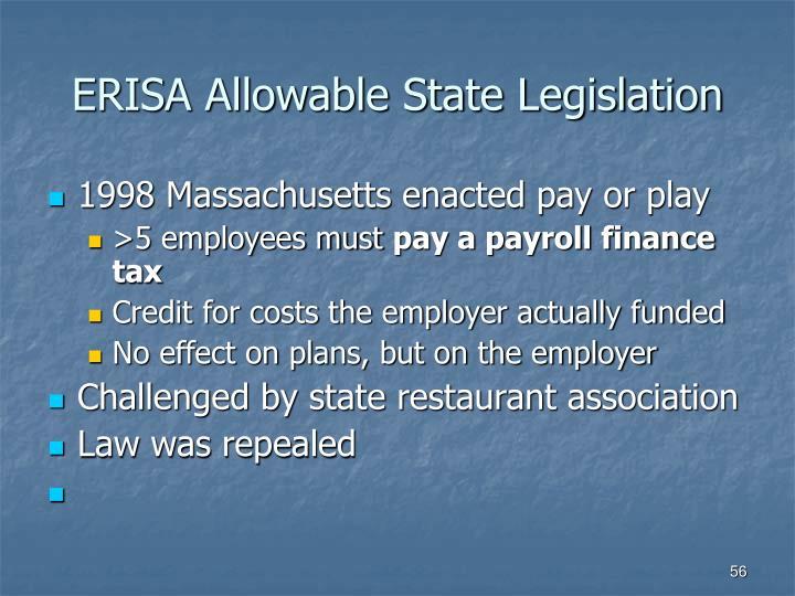 ERISA Allowable State Legislation