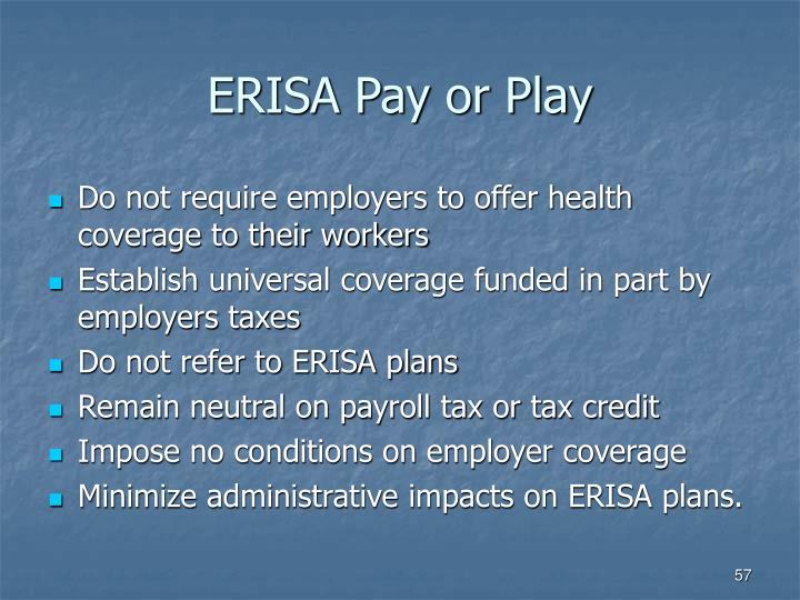 ERISA Pay or Play