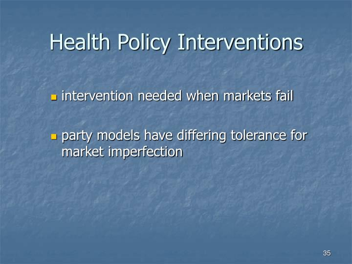 Health Policy Interventions