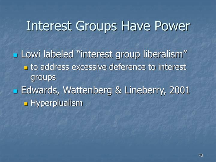 Interest Groups Have Power