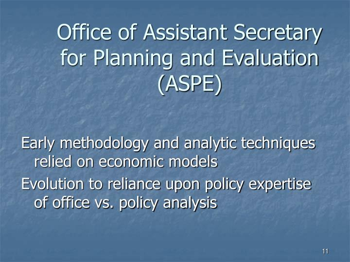 Office of Assistant Secretary for Planning and Evaluation (ASPE)