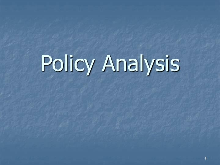 what is policy analysis