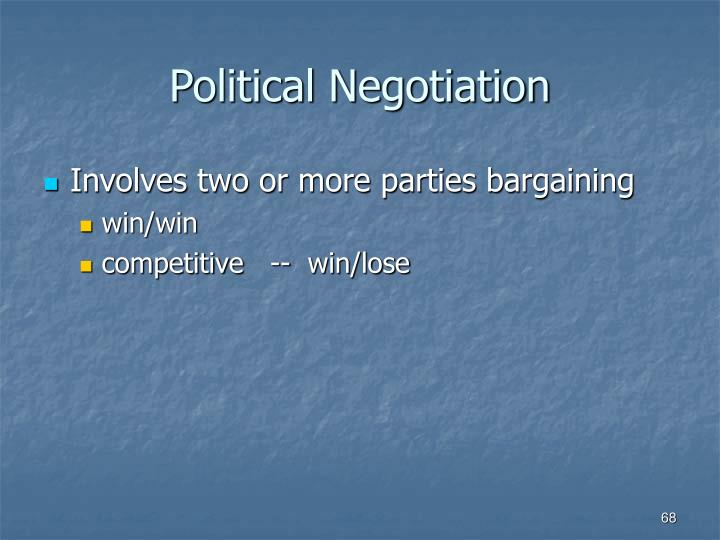 Political Negotiation
