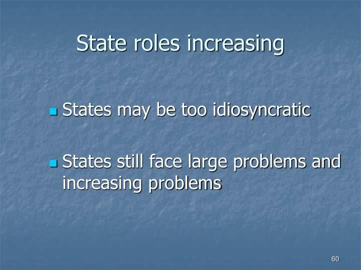 State roles increasing