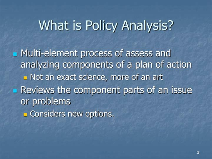 What is Policy Analysis?