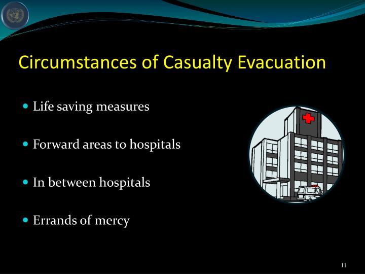 Circumstances of Casualty Evacuation