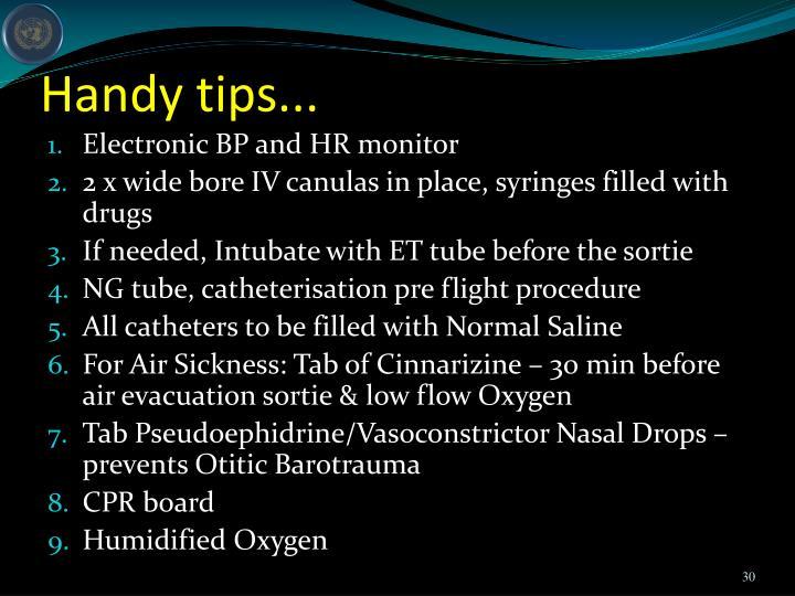 Handy tips...