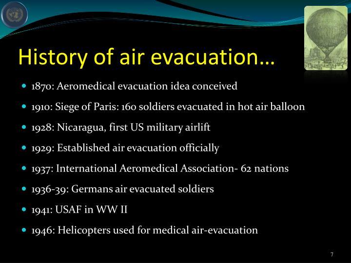 History of air evacuation…