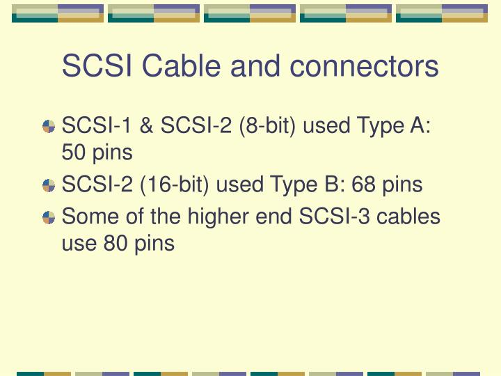 SCSI Cable and connectors