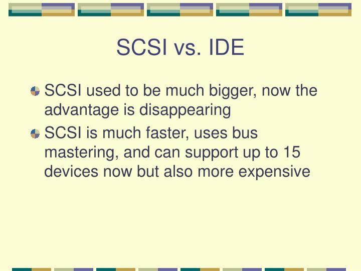 SCSI vs. IDE