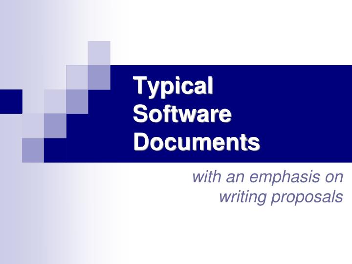 Typical software documents