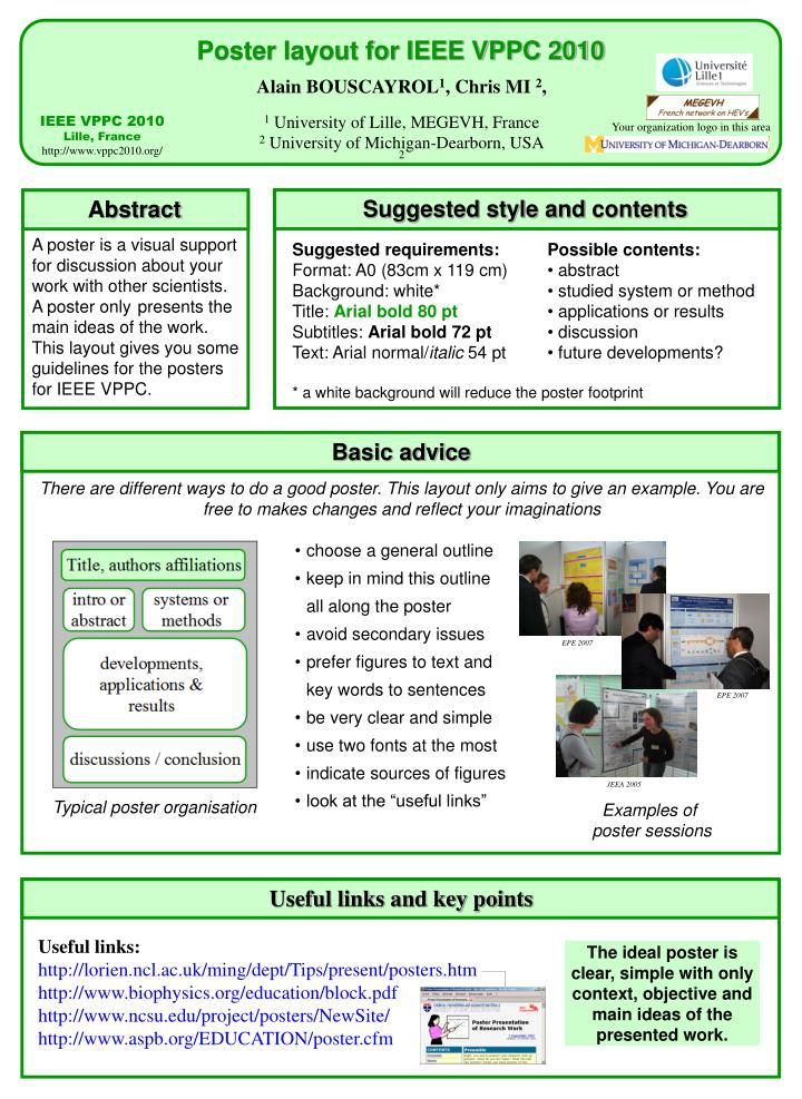 poster layout for ieee vppc 2010